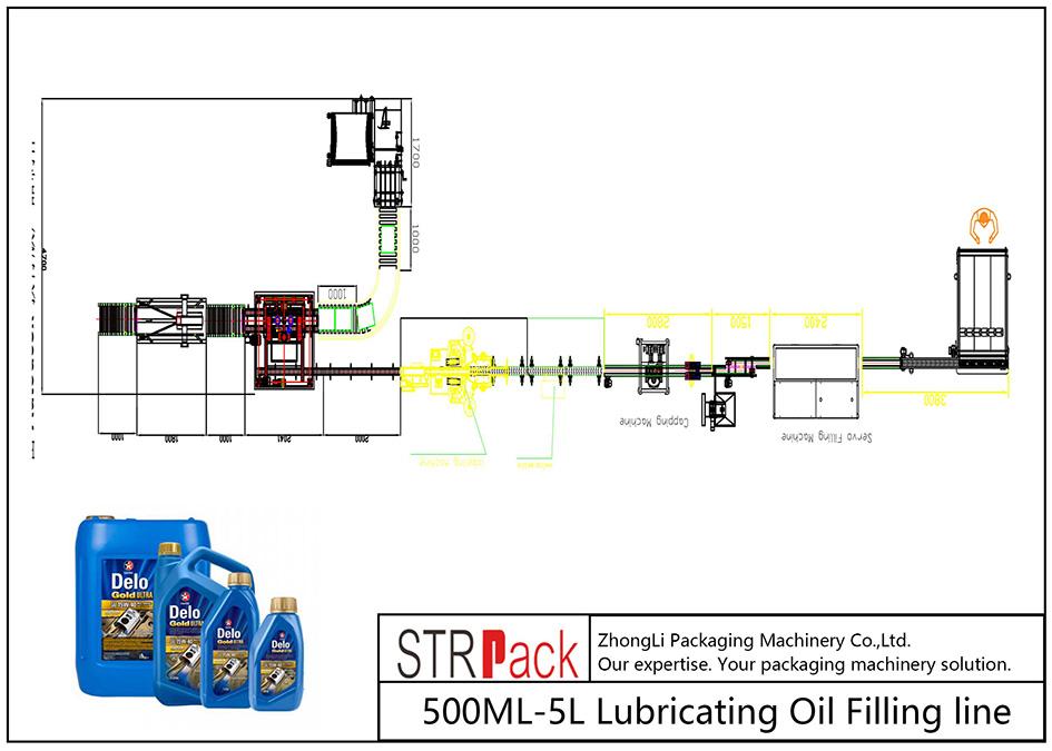 Автоматты түрде 500ML-5L май құю желісі